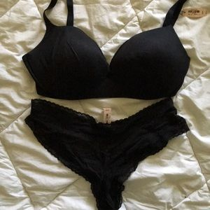 Victoria's Secret plunge bra and panty